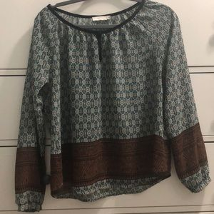 Lush Tops - Patterned long sleeved lush shirt